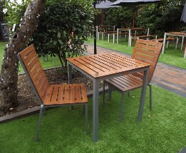 Endurance no maintenance square table and chair set