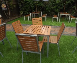 Endurance no maintenance outdoor square table and chair