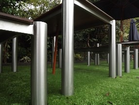 Endurance no maintenance stainless steel frame with brushed steel finish