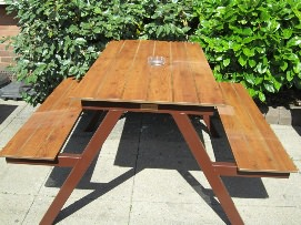 Traditional picnic tables