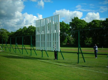 Hardball Sight Screens and Runners are secured and cary a 25 year guarantee