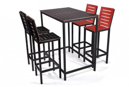 Mono Bar Stool with Backrest